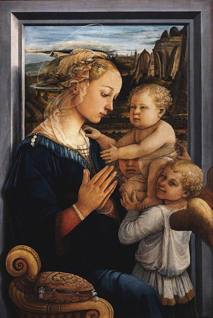 フィリッポ・リッピ《聖母子と二天使》
