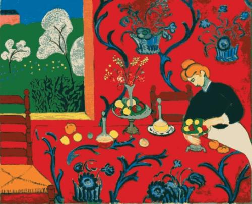 アンリ・マティス《赤い調和、赤い室内(赤のハーモニー)》