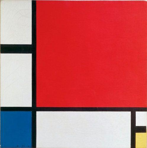 モンドリアン《赤、青、黄のコンポジション》