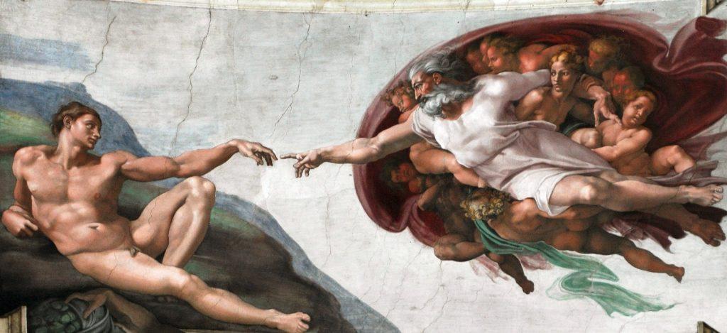 ミケランジェロ《アダムの創造》
