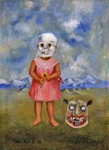 フリーダ・カーロの《死の仮面を被った少女》