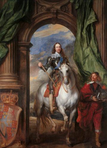 ダイク《馬上のチャールズ1世とサン・アントワープの領主の肖像》