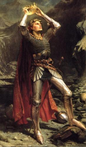 チャールズ・アーネスト・バトラー《アーサー王》