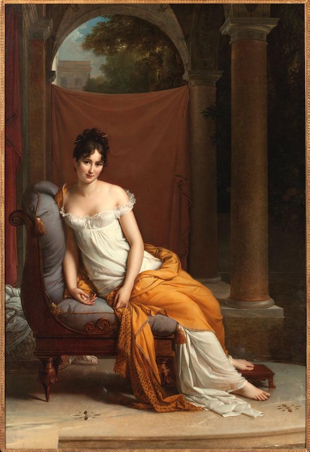 フランソワ・ジェラール《腰掛けるジュリエット・レカミエ》