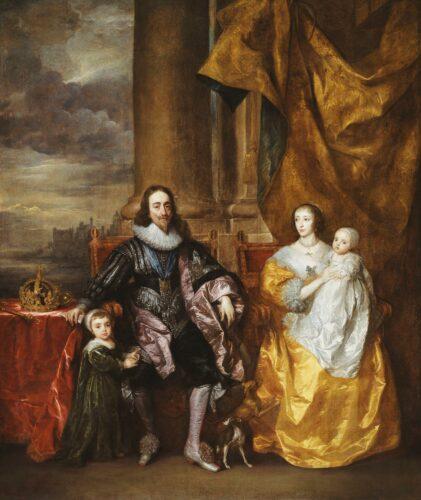 ダイクヴァン・ダイク《チャールズ1世とヘンリエッタ・マリアと2人の子供たち》