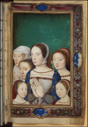 クロードと娘たち カトリーヌ・ド・メディシスの時祷書から