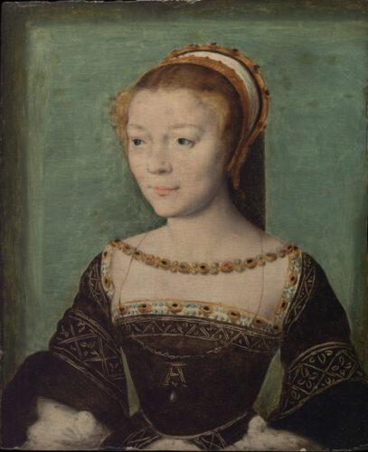 コルネリス・デ・リヨンに帰属《アンヌ・ド・ピスルー・デイリーの肖像》