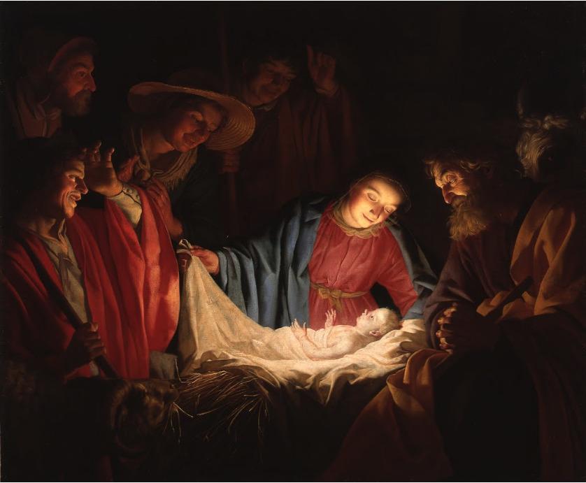 ヘラルト・ファン・ホントホルスト《キリストの降誕》