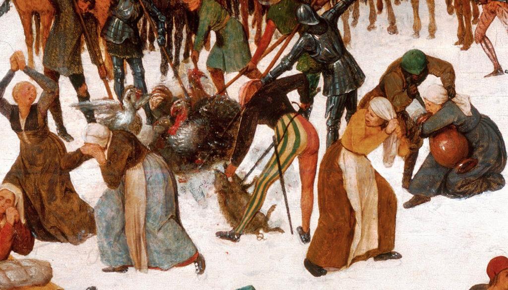 ピーテル・ブリューゲル 《幼児虐殺(部分)》